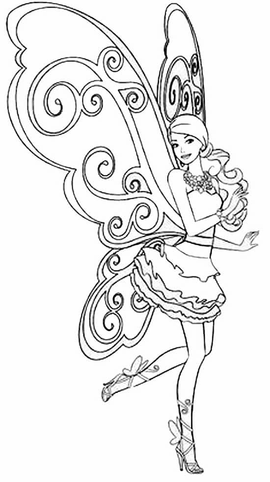Coloriages gratuits imprimer barbie papa blogueur - Coloriage barbie fee ...