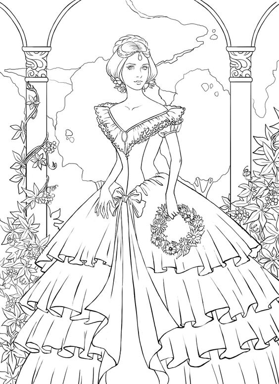 pretty lady coloring pages - photo#18