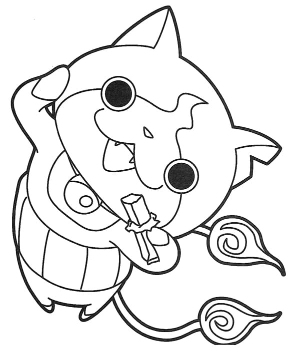 yo kai watch coloring pages coloriages imprimer des personnages fascinants de yo kai