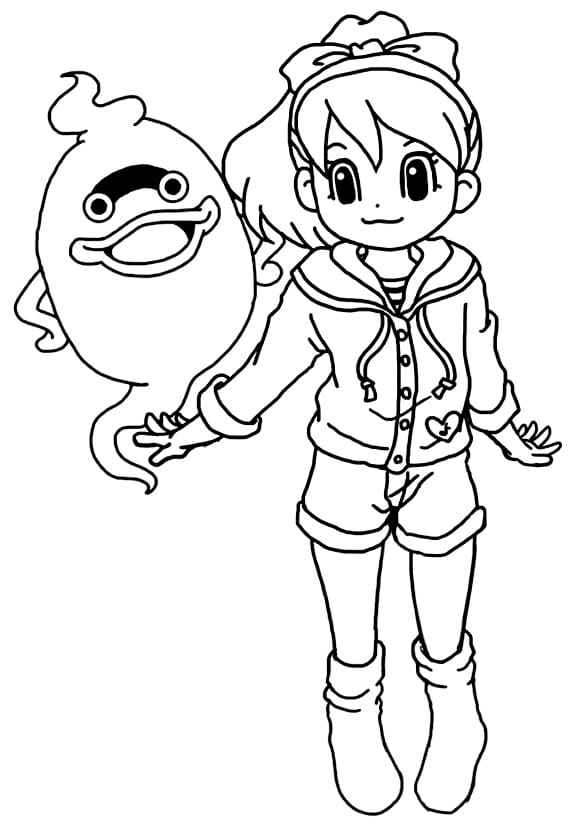 coloriage-gratuit-yokai-watch-katie-whisper