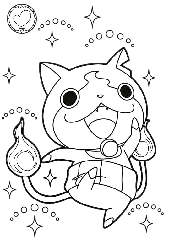 coloriage-yokai-watch-jybanian-01