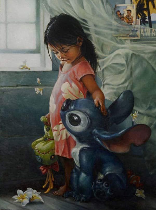 Disney inspired cr ation fine art capture heather theurer - Peinture princesse disney ...