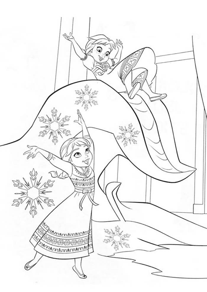 coloriage-reinedesneiges-anna-elsa