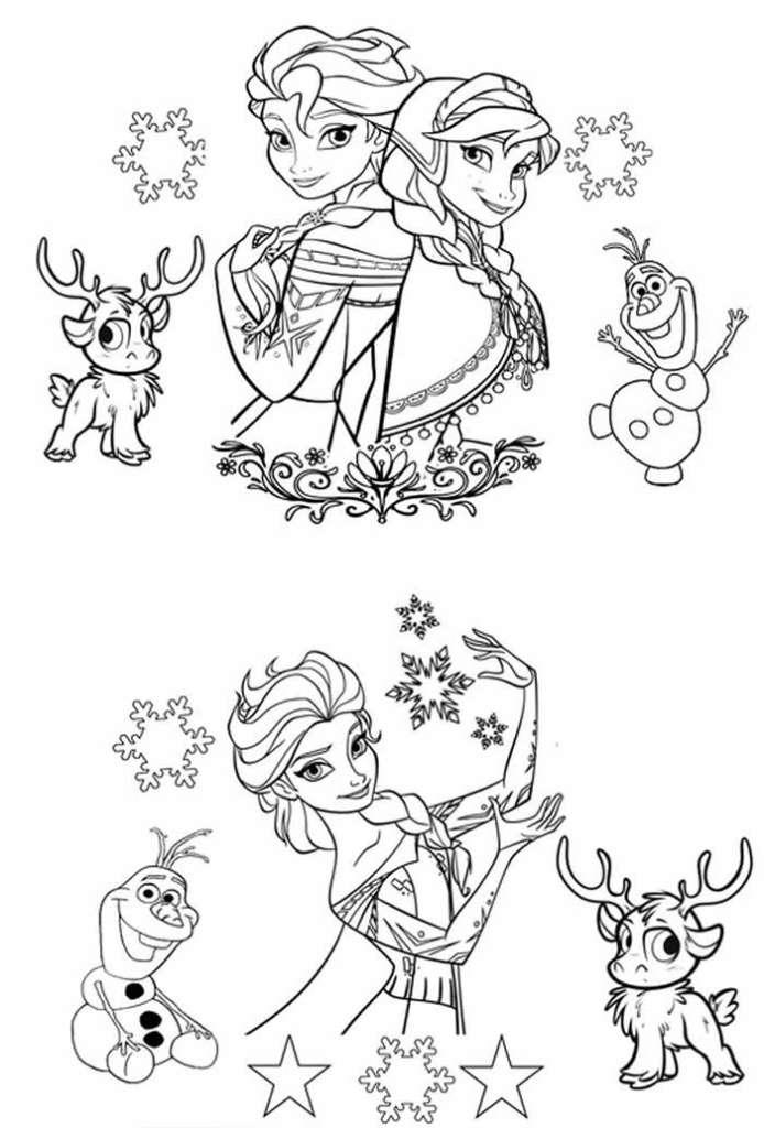 Coloriages grauits imprimer frozen - Coloriage princesse des neiges ...