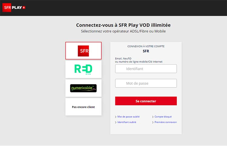 Sfr page accueil