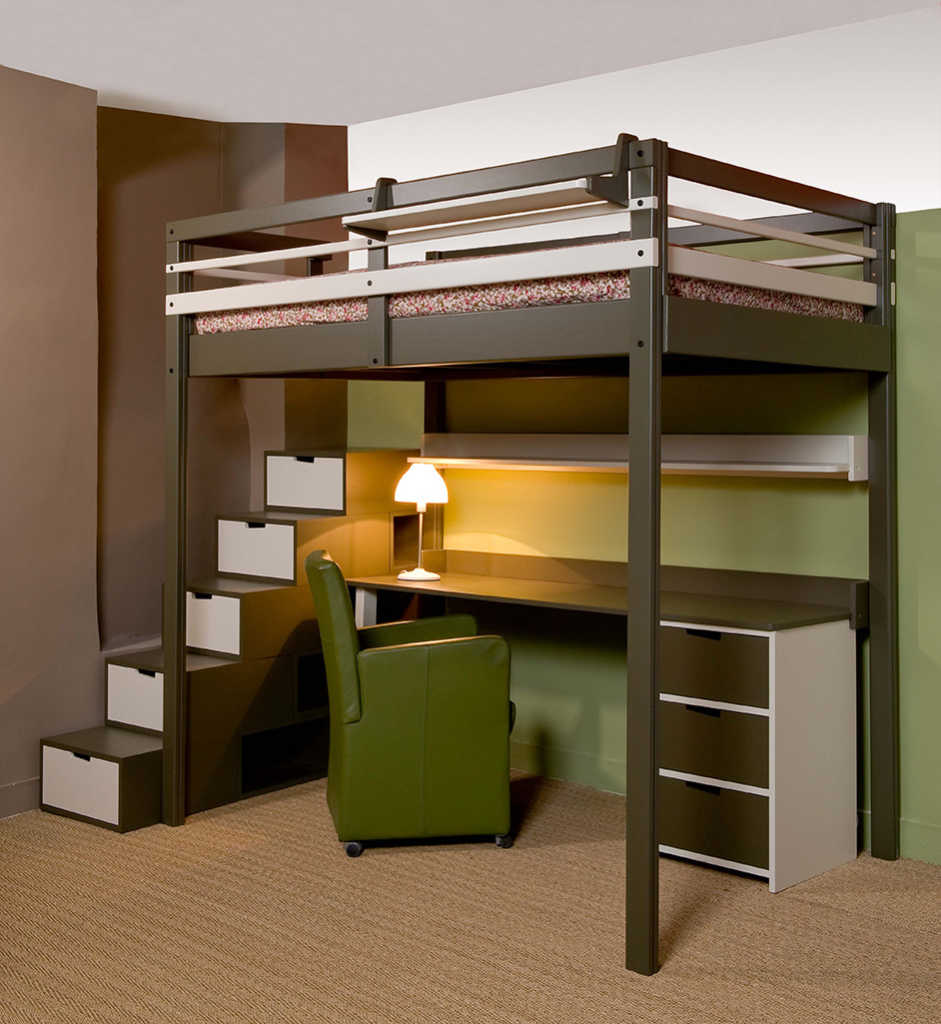 Un nouveau lit pour notre adolescent papa blogueur - Plan lit mezzanine 2 places ...