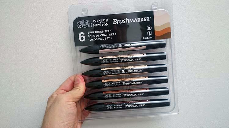 Brushmarker, feutre pinceau et pointe large à alcool pour illustration et coloriage