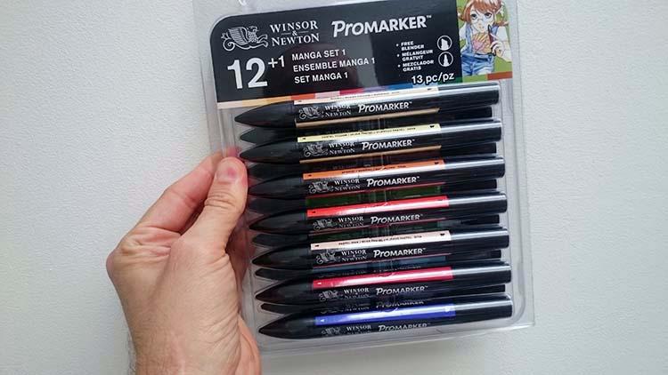 Set de couleurs basiques de feutre à alcool Promarker de Winsor & Newton
