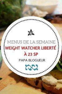 idées de menus de la semaine weight watcher liberté à 23 smart points