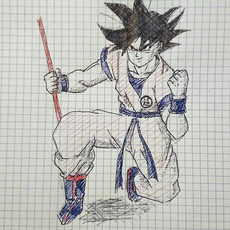 esquice san goku dragon ball