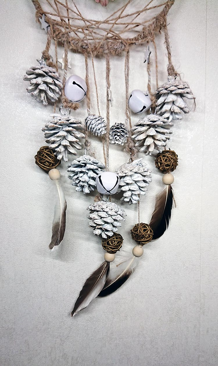 DIY Attrape Rêves de Noël #dreamcatcher #attrapereves #diy #noel