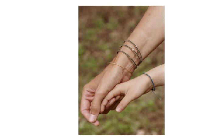 bracelet en croix diamant