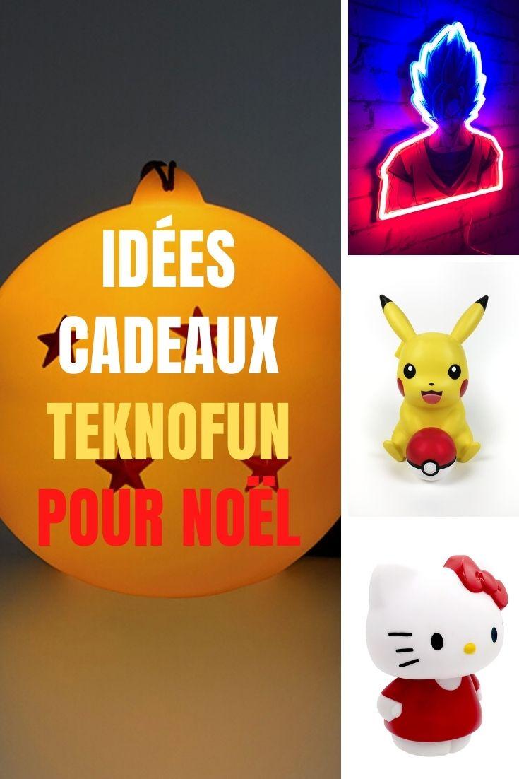 Top idées cadeaux Noël licence dragon ball z, pokemon et hello kitty teknofun